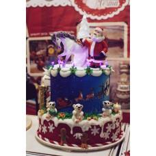 "Новогодний торт ""Дед Мороз и символ года"""
