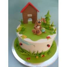 """Детский торт """"Дом песика"""""""