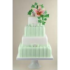 """Свадебный торт """"Мятный цвет и лилия"""""""