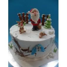 """Новогодний торт """"Дедушка Мороз №2"""""""