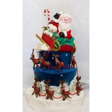 "Новогодний торт 2019 ""Дед Мороз и его помощники"""