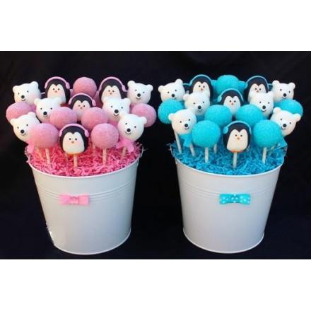 "Cake Pops ""Мишка и пингвинчик"""