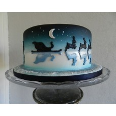 """Новогодний торт """"Новогодняя ночь"""""""