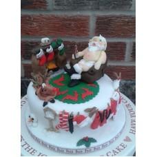 """Новогодний торт """"Это была ночь перед Рождеством"""""""