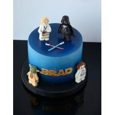 """Детский торт """"Звездные воины. Лего"""""""