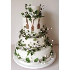"""Свадебный торт """"Зимняя свадьба"""""""