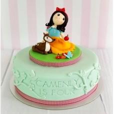 """Детский торт """"Белоснежка и дружок"""""""