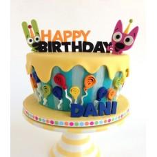 """Детский торт """"Веселый День Рождения"""""""