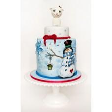 """Торт """"Барашка и снеговик"""""""