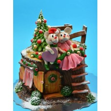 "Новогодний торт ""Елка и мыши"""