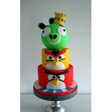 "Детский торт ""Angry Birds"" №9"