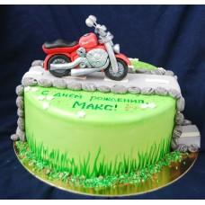 """Торт """"Красный мотоцикл"""""""