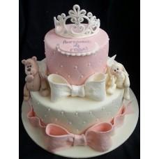 """Детский торт """"Белая диадема"""""""