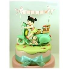 "Детский торт ""Веселая девчушка"""
