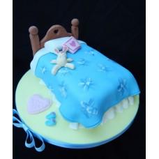 """Торт на день влюбленных """"Кролик в кроватке"""""""