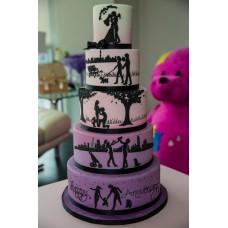 """Свадебный торт """"Счастливый путь"""""""