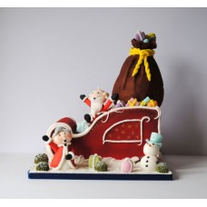 "Новогодний торт ""Дедушка и бабушка Мороз"""