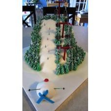 """Новогодний торт """"Катание снеговика"""""""