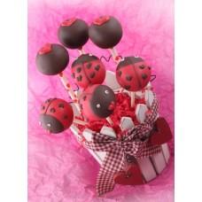 """Cake Pops на 14 февраля """"Влюбленные божьи коровки"""""""