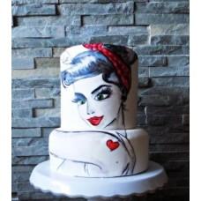 """Торт на День Святого Валентина """"Мирей"""""""