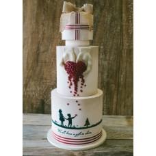 """Торт на день влюбленных """"Любовь в наших руках"""""""