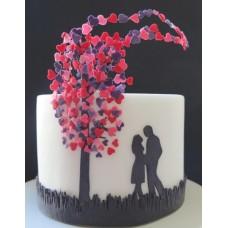 """Торт на день влюбленных """"Сердечное дерево"""""""