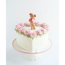 "Торт на День Святого Валентина ""Ангел-мишутка"""