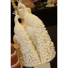 """Свадебный торт """"Белые павлины"""""""