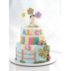 "Детский торт ""Алисе годик"""