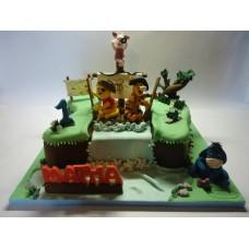 """Детский торт """"Винни пух- пират"""""""