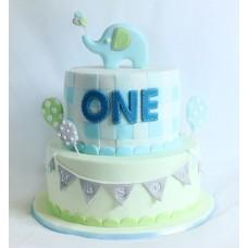 """Детский торт """"Голубой слоник"""""""