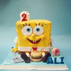 """Детский торт """"Губка Боб и Гэрри"""""""