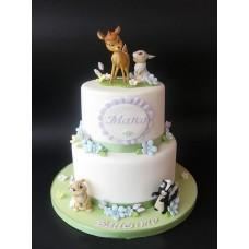 """Детский торт """"Бэмби и кролик"""""""