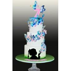 """Детский торт """"Вихрь из бабочек"""""""