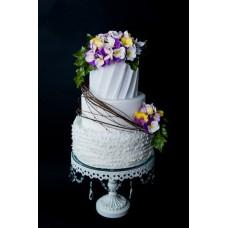"""Свадебный торт """"Свадебные фиалки"""""""