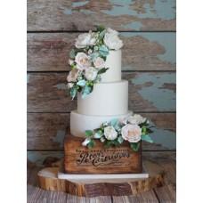 """Свадебный торт """"Куст пионы с розами"""""""