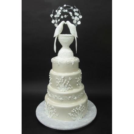 """Свадебный торт """"Белые голуби"""""""