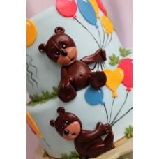 "Детский торт ""Бурый мишка с шариками"""