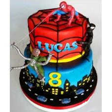 "Детский торт ""Битва человека паука"""