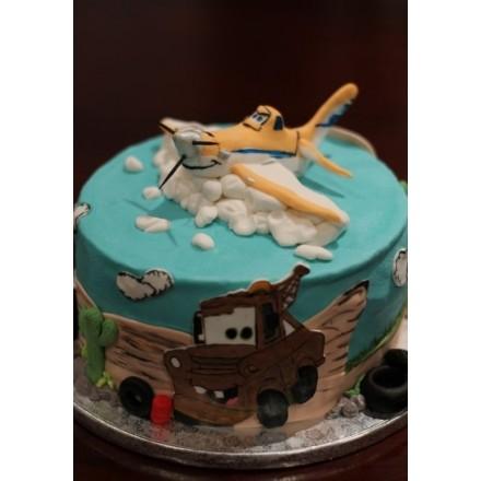 """Детский торт """"Самолет Дасти"""""""
