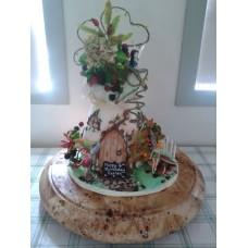 """Детский торт """"Волшебный дом феечек"""""""