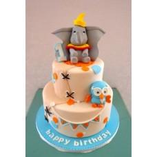 """Детский торт """"Дамбо с большими ушами"""""""