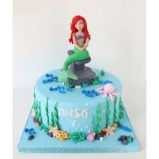 """Детский торт """"Ариель на камне"""""""
