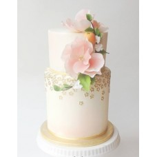 """Свадебный торт """"Мандарин и цветы"""""""