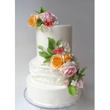 """Свадебный торт """"Бутоньерки"""""""