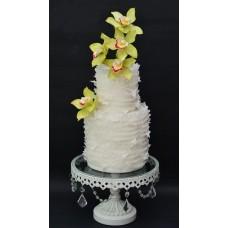 """Эксклюзивный свадебный торт """"Салатовые цветы"""""""