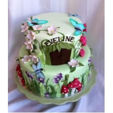 """Детский торт """"Домик бабочек"""""""