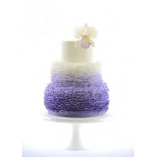 """Свадебный торт """"Фиолетовая пышность"""""""