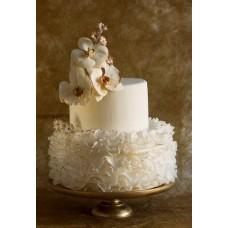 """Свадебный торт """"Белые анютины глазки"""""""