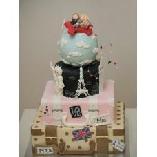 """Свадебный торт """"Любовь всему миру"""""""